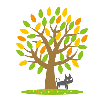 Coloring tree and cat