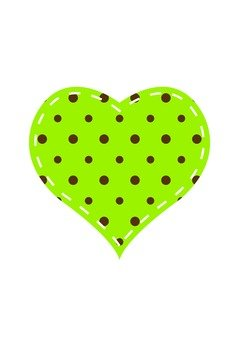 Dot Pattern Heart (Green)