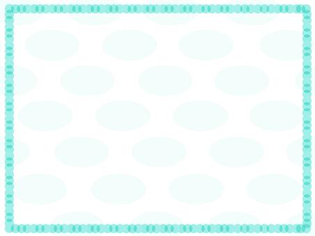 Ellipse frame (mint green)