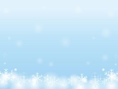 Snow Crystal Decorative Frame 3