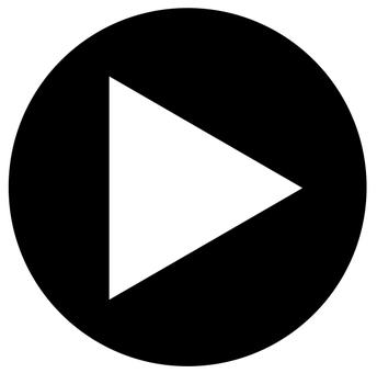 円形アイコン 三角矢印 黒01