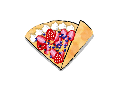 Single Material Mixed Berry Crepe