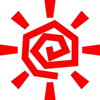 Tangled sun (red)