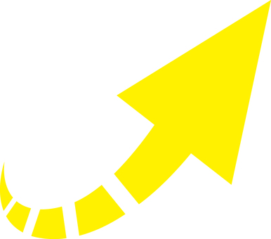 箭头右对角向上___黄色