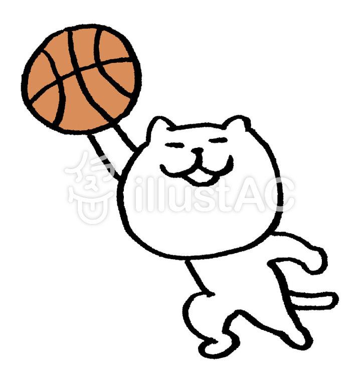 猫 バスケイラスト No 437631無料イラストならイラストac