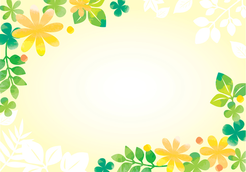 초여름의 수채화 프레임
