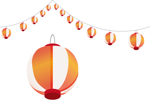 Summer festival lanterns