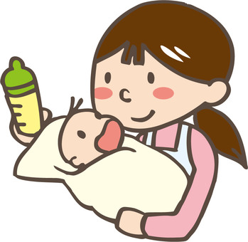 Mother giving milk