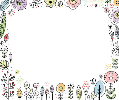 Scandinavian flower pattern frame
