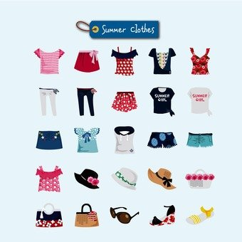 Pack of summer clothes