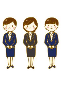 Three women suit