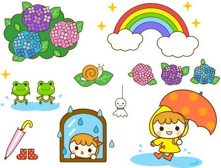 雨季插圖素材集
