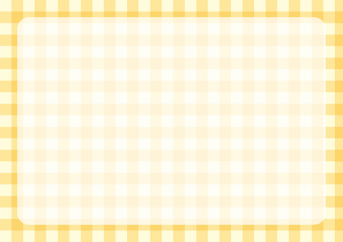 Gingham check frame yellow