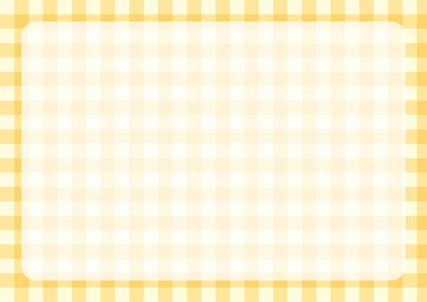 깅엄 체크 프레임 노란색