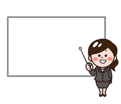 一位女士在白板上解釋(現在)