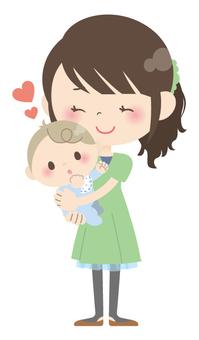 Parents and children * Parenting (hugging) 02