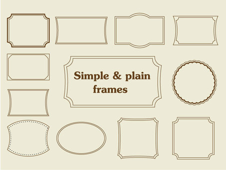 Easy-to-use simple plane frame set