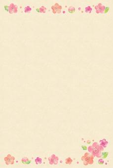梅カード3(クラフト)