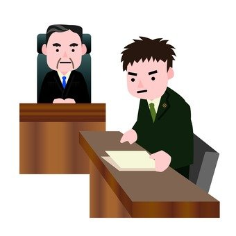 Male judge and male lawyer