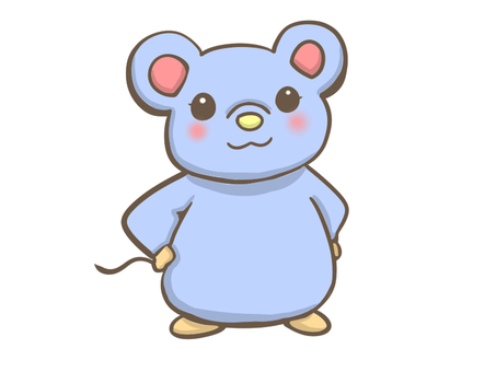 A mouse who puts her hand on the waist