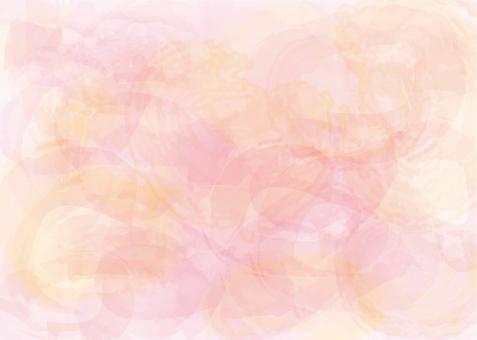 水彩背景ピンク春色フレーム枠壁紙絵の具筆