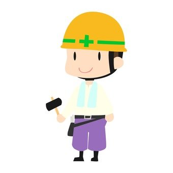 Site worker with a handkerchief