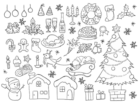Hand-painted Christmas set