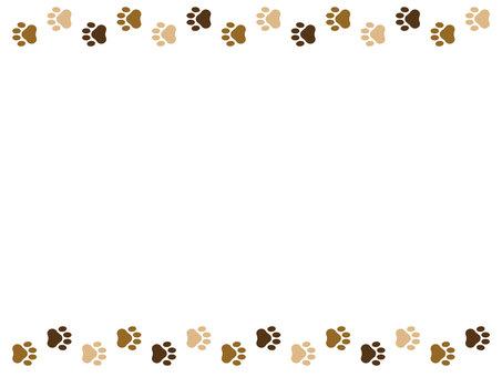 Dog footprint frame 3 colors