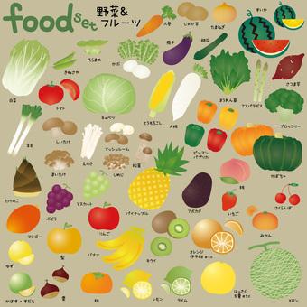 Vegetables & Fruit Set