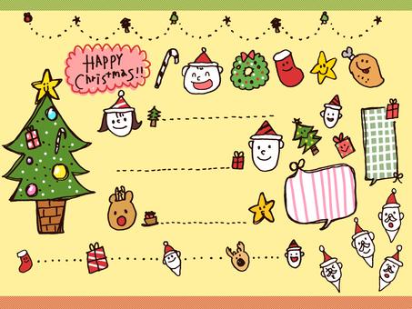 【Christmas】 Handwritten Callout · Frame · Decoration