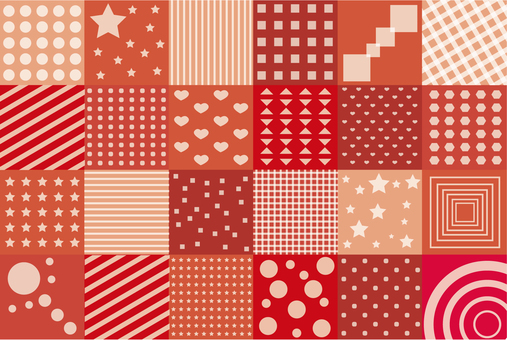 Wallpaper - Patchwork S - Red type