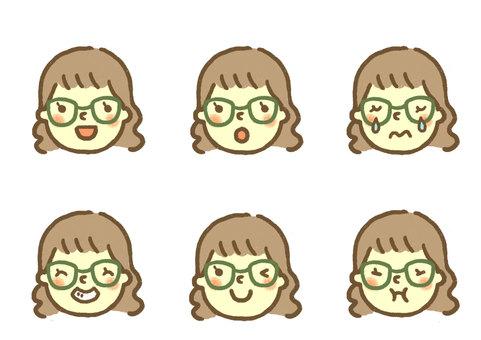 Face icon (Girl 3)