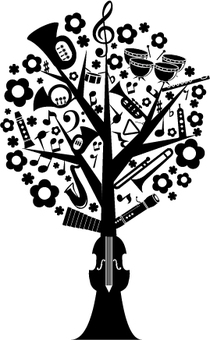 Music Tree Monochrome