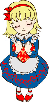 A girl holding a heart 2