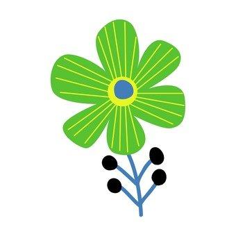 Scandinavian flowers (green)