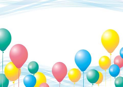 Balloon balloon frame frame background Wallpaper Wave pattern Spring-Summer