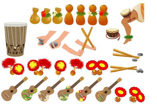 ハワイアン楽器いろいろ