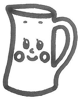 Milk a milk jug