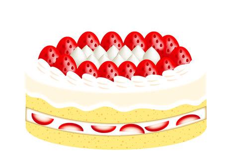 Strawberry Hole Cake