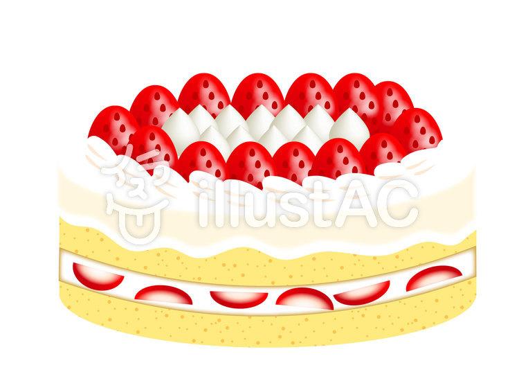 イチゴのホールケーキイラスト No 749245無料イラストなら