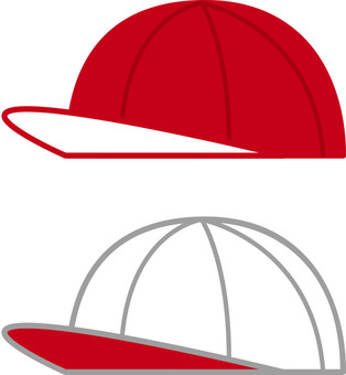 Red and white hat · red and white hat