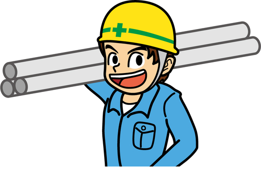 Worker with iron pipe Male