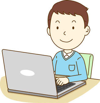 A man who operates a laptop computer