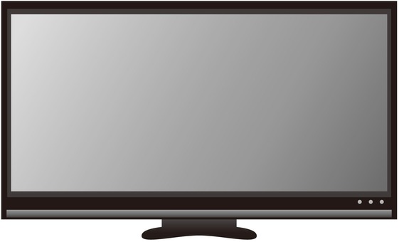 Wide monitor (black)