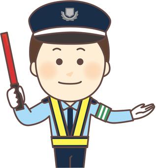 Traffic inducer male (reflection vest, hat)