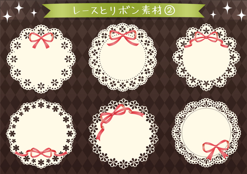 Lace and ribbon material 2