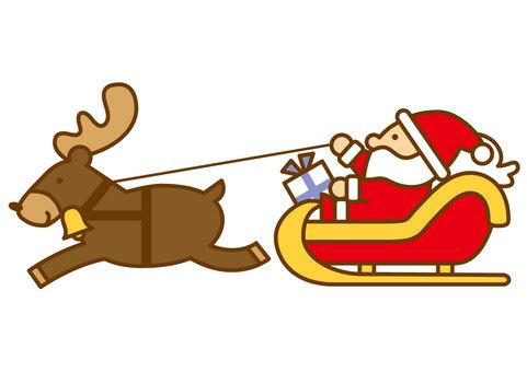 Santa and reindeer 4c