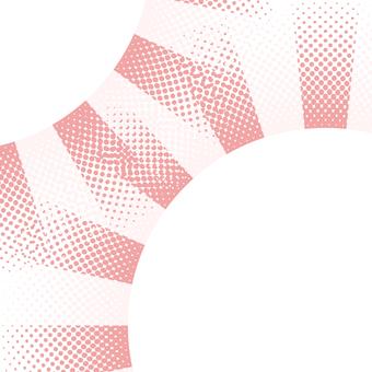 ドットグラデーション6・ピンク