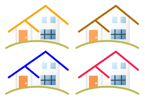 4 color roof house