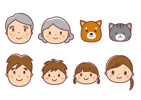 3rd generation & pet face illustration